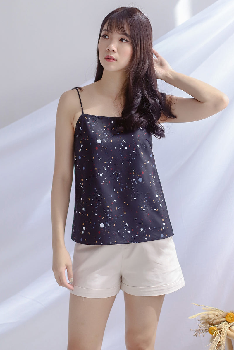 Twilight Reversible Cami Top In Black