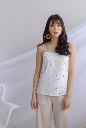 Twilight Reversible Cami Top In White/Cream
