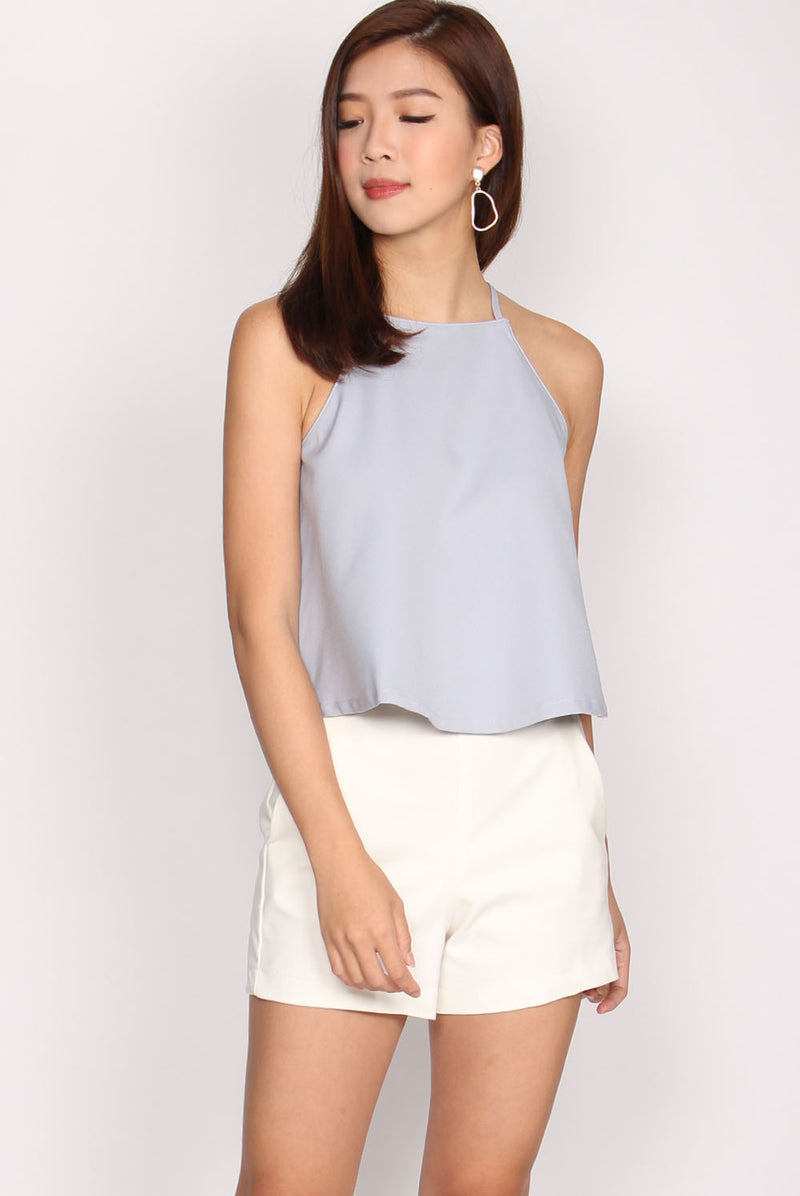 Wendelin Halter Top In Skyblue