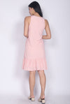 Wendolyn Polkadot Dropwaist Dress In Pink