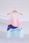 *Kids* Whale Elastic Dress In Pastel Navy