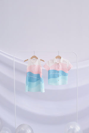 *Kids* Whale Shirt In Pastel Green