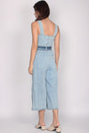 *BACKORDER* Zielle Denim Slit Cut Jumpsuit