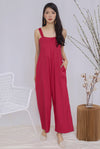 Zoeve Pleated Jumpsuit In Rose