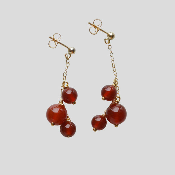 Red Agate natural stone earrings