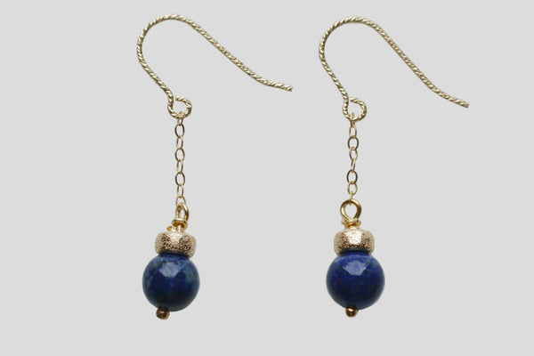 Lapis Lazuli natural stone earrings