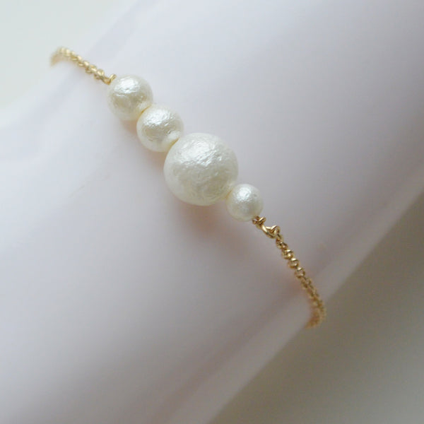 Bracelet with Four Pearls
