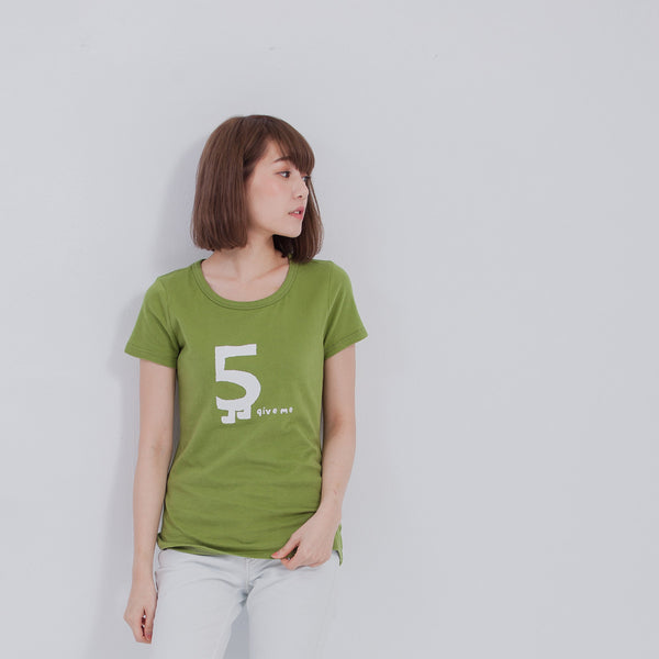 Female T-Shirt Give me 5