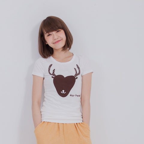 Female T-Shirt Deer heart