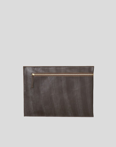 Brown Portfolio bag with zipper