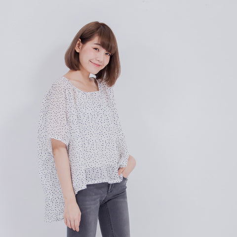 Blanche top polka dot
