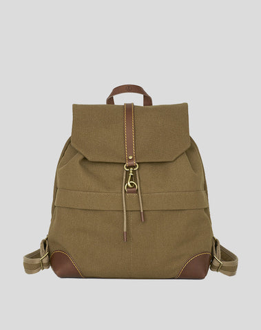 Back Pack Khaki Canvas