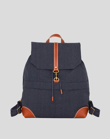 Back Pack Navy Canvas