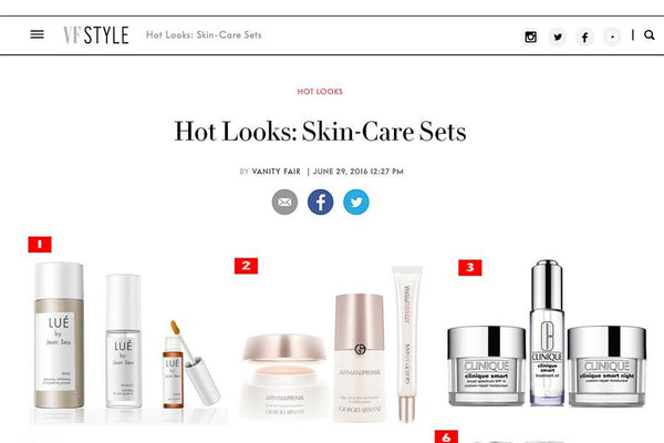 LUÉ BY JEAN SEO IS VOTED #1 SKINCARE SET BY VANITY FAIR