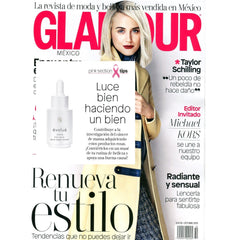 Evolue Reverse Time Serum Featured in Glamour breast Cancer Awareness