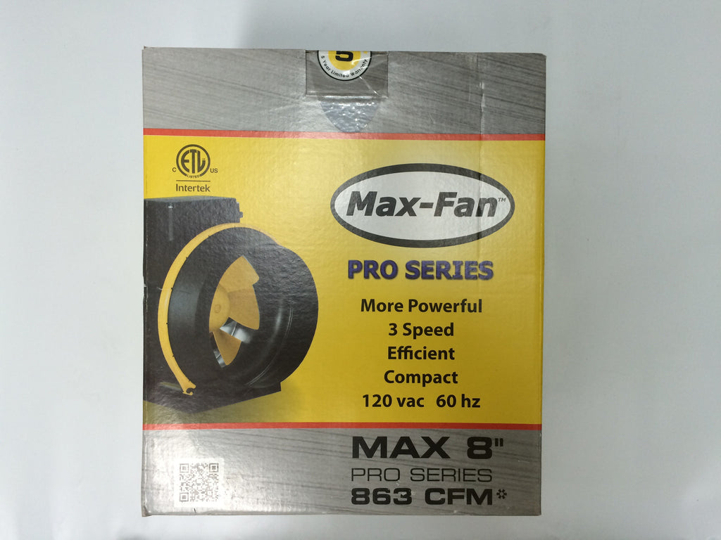 "8"" SUPER Max Fan 832 cfm 3 speed"