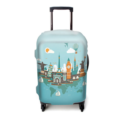 Luggage Cover (World Map)