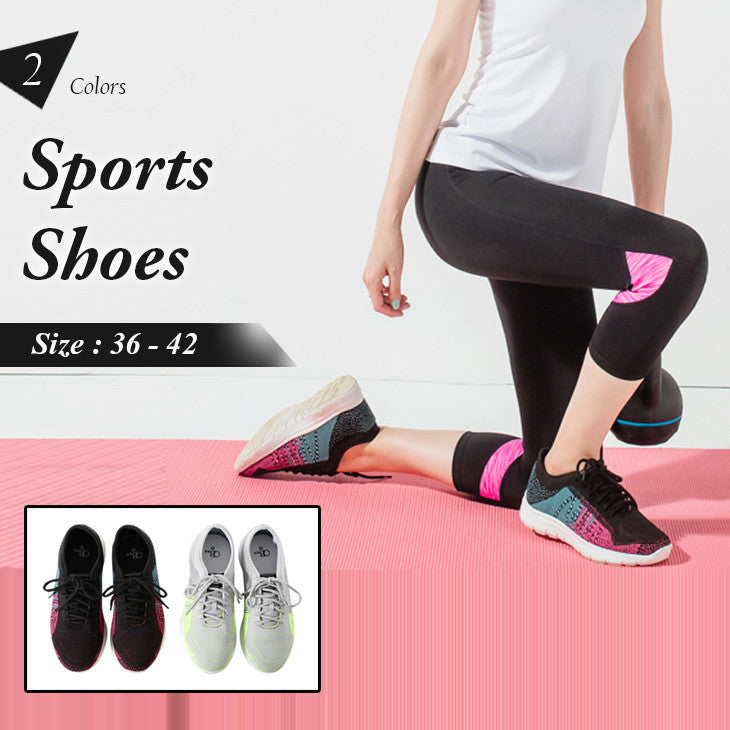 COLORBLOCK MESH DECOMPRESSION SHOCK ABSORBER SPORTS SHOES