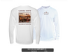 "TX-005 ""Behold the Redfish"" UPF Long Sleeve Solar Performance Shirt - WHITE"