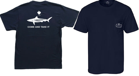 Come and Take it SHARKER - Comfort Colors Pocket-T