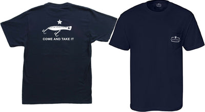 Come and Take it DEEPWATER POPPER - Comfort Colors Pocket-T