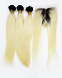 Ombre Hair Extensions T 1b 613# Straight Weave