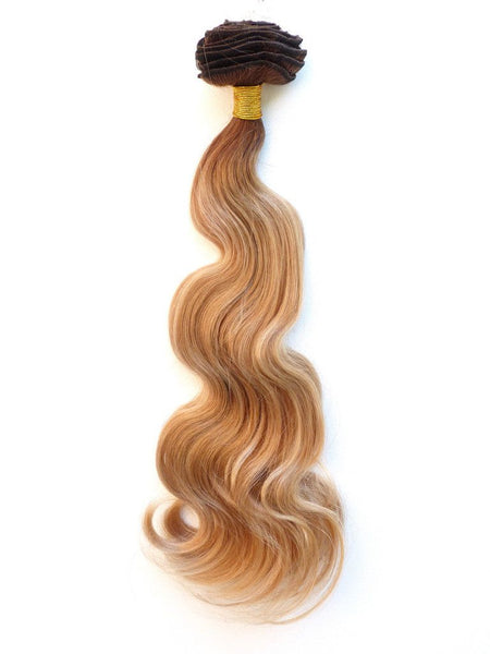 Clip - Double Drawn European Sun Kissed Ombre Clip In Hair Extensions Jadahair
