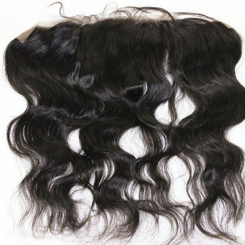 Closure - Body Wave Virgin Hair Lace Frontal 13''x4'' Color 1b#