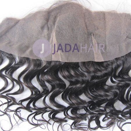 Closure - Deep Curly Virgin Hair Lace Frontal 13''x4'' Color 1b#