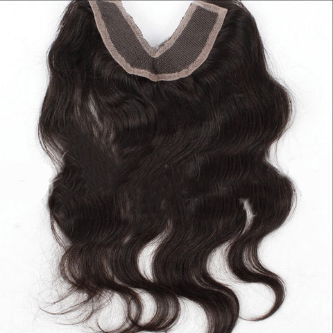 Closure - Invisible V Part Closure 4*4 Body Wave