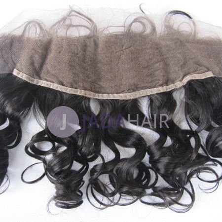 Closure - Loose Wave Virgin Hair Lace Frontal 13''x4'' Color 1b#