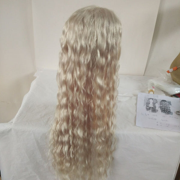 Silver Grey Long Hairstyle 30 inch With Customized Texture