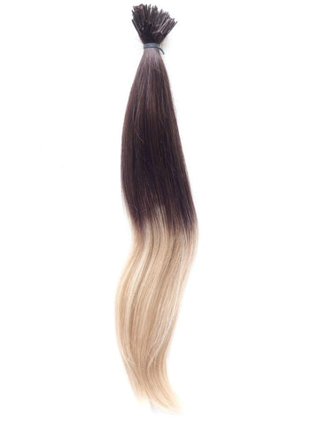 I-TIP - European Balayage Ombre Virgin Remy Human Hair, I-Tips (Micro Rings), Straight, 22'' Colours 4 To Colour 613