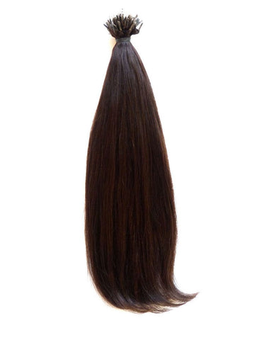 Nano - European Virgin Remy Human Hair, Nano Tip, Straight, 18'' Colour 4 - Dark Hazel Brown