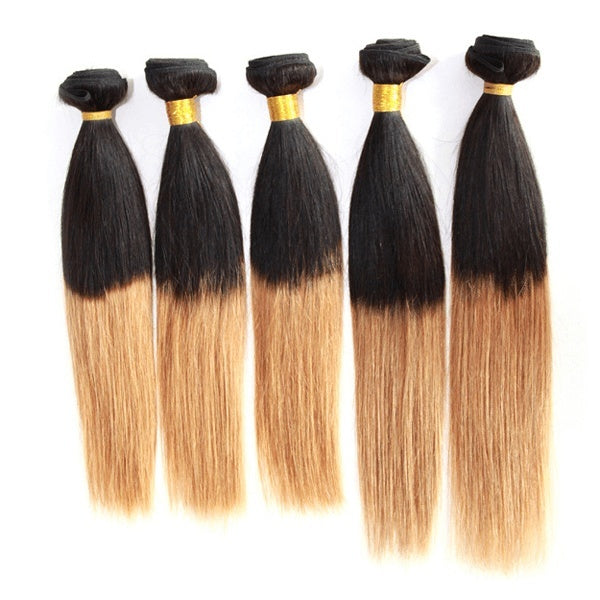 Weave - 1B#/27# Ombre Hair Extensions Straight Weaves