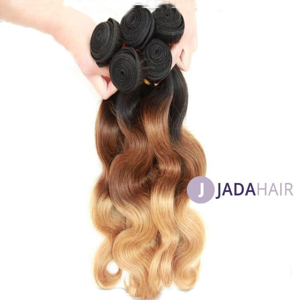 Weave - 1B#/4#/27# Ombre Hair Weaves 3 Tone Body Wave