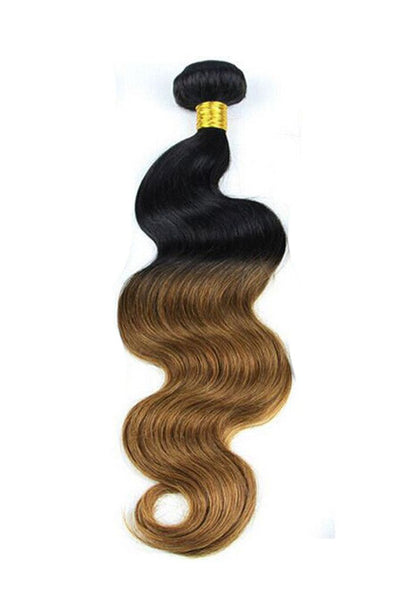 Weave - 1B#/4# Ombre Hair Extensions Chocolate Brown Wet And Wavy Weaves