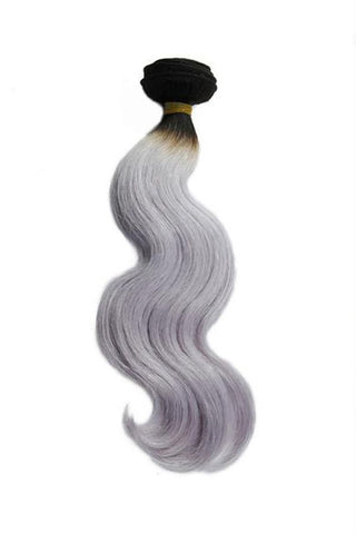Weave - Body Wave Human Hair Weave In Grey Hair Color