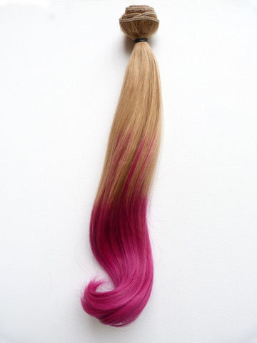 Weave - European Ombre Virgin Remy Human Hair Weave Straight, 20'' Colours 16 To Hot Pink