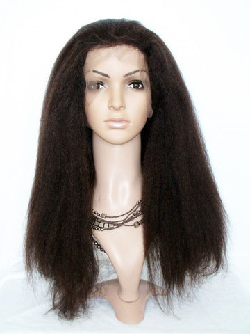 Wig - Kinky Straight Lace Wig Virgin Human Hair