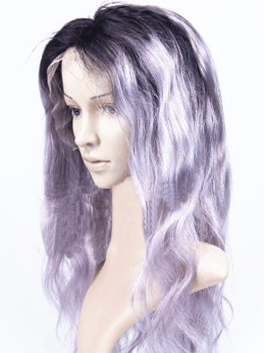 Wig - Ombre Platinum  Human Hair Wig 1B/Grey Jada Hair