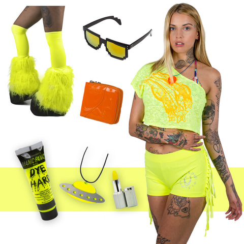 6f4c81278e7 Cyberdog s 80s fashion inspired House of Neon pieces.