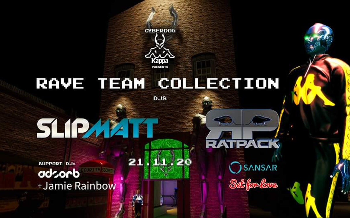 Cyberdog X Kappa Rave Team Collection Event