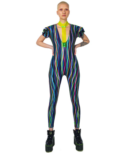 CYBERLAB ELECTRIC BODYSUIT LONG by Cyberdog - Rave clothing, festival fashion & clubwear.