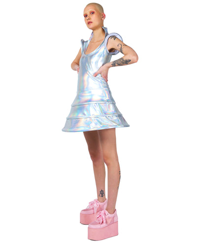 CYBERLAB ENTRAPMENTED DRESS by Cyberdog - Rave clothing, festival fashion & clubwear.