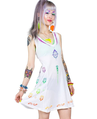 ALIEN BUDDHA FLARE DRESS