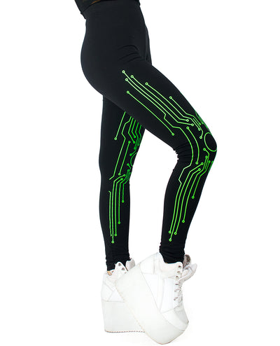 BODY CIRCUIT LEGGINGS by Cyberdog - Rave clothing, festival fashion & clubwear.