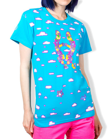 GIRLS EASY TEE CAT LOGO