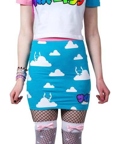 MINI SKIRT CLOUD PL-AI