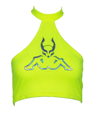KAPPA X CD MASHUP HALTER VEST by Cyberdog - Rave clothing, festival fashion & clubwear.